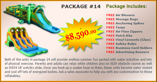 Ultimate Jumpers Bounce Slide Package Deal 14