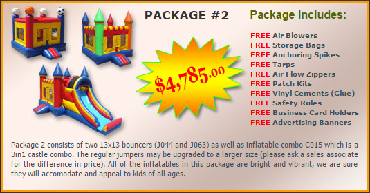 Ultimate Jumpers Bounce Slide Package Deal 2