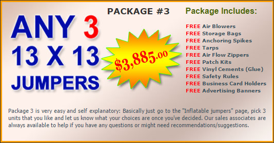 Ultimate Jumpers Bounce Slide Package Deal 3