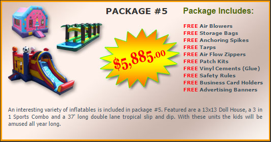 Ultimate Jumpers Bounce Slide Package Deal 5