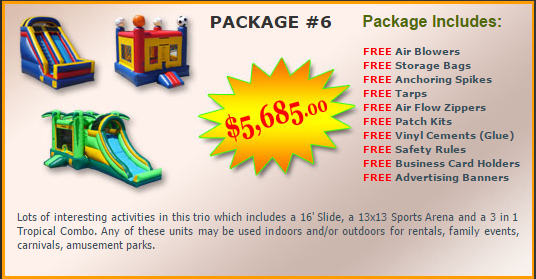 Ultimate Jumpers Bounce Slide Package Deal 6