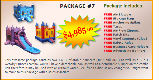 Ultimate Jumpers Bounce Slide Package Deal 7