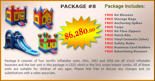 Ultimate Jumpers Bounce Slide Package Deal 8