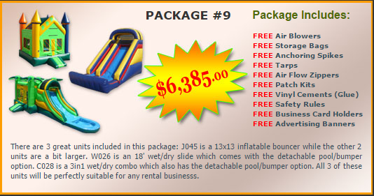 Ultimate Jumpers Bounce Slide Package Deal 9