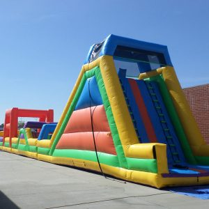 100' Inflatable Slide Obstacle Course I096