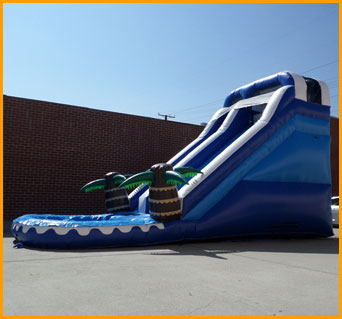 16' Front Load Tropical Water Slide
