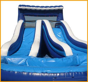 18' Back Load Double Lane Water Slide