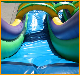 18' Double Lane Wet and Dry Water Slide