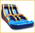 18' Inflatable Wet and Dry Double Lane Water Slide