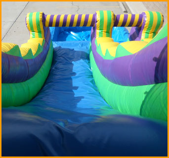 18' Multicolor Wet and Dry Water Slide
