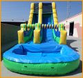 18' Single Lane Wet and Dry Water Slide