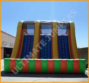 18' Triple Lane Wet and Dry Water Slide