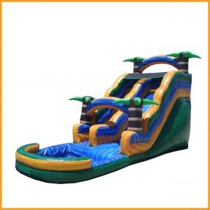 Green Tropical Water Slide