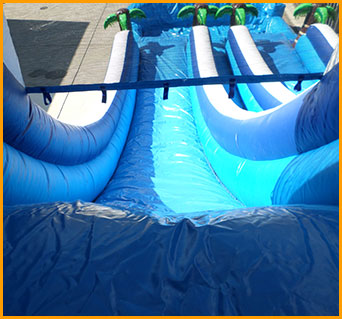 20' Inflatable Double Lane Tropical Water Slide