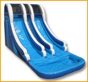 21' Double Lane Wet and Dry Water Slide