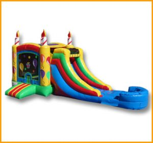 3 in 1 Birthday Cake Bouncer Slide Combo