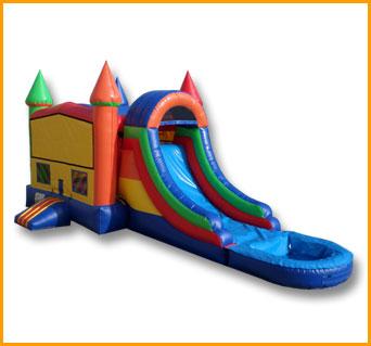 3 in 1 Wet Dry Multicolor Castle Bouncer Combo