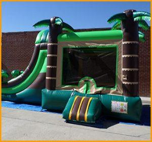 3 in 1 Wet Dry Tropical Bouncer Slide Combo