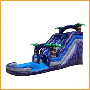 purple inflatable water slide