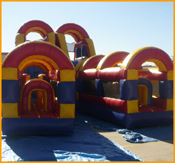 Double Slide Obstacle Course