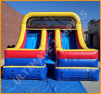 Inflatable 12' Double Lane Slide
