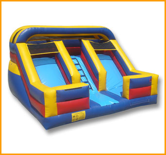 Inflatable 12' Front Load Double Lane Slide