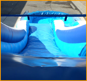 Inflatable 16' Blue Water Slide