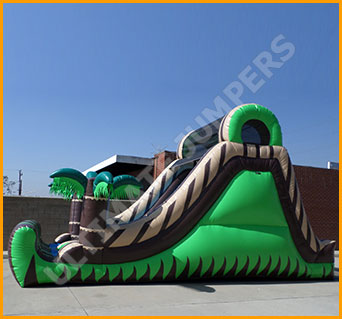 Inflatable 16' Double Lane Tropical Slide