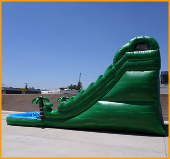 Inflatable 16' Green Marble Water Slide