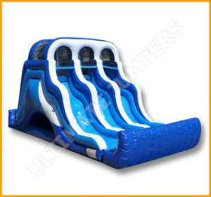 Inflatable 16' Triple Lane Slide