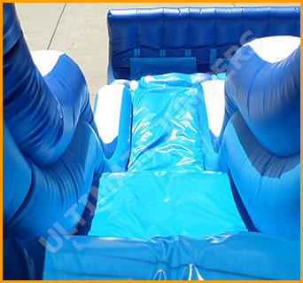 Inflatable 16' Triple Lane Wet and Dry Water Slide