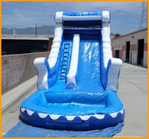 Inflatable 17' Blue Marble Water Slide