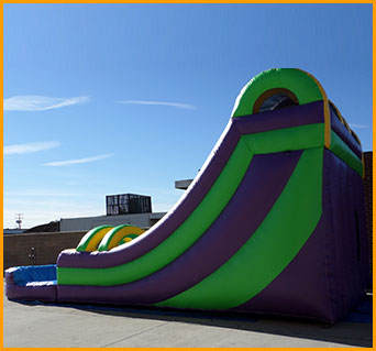 Inflatable 18' Double Lane Slide