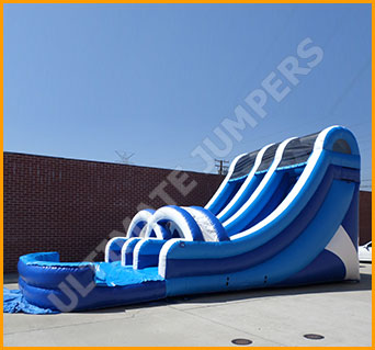 Inflatable 18' Double Lane Water Slide