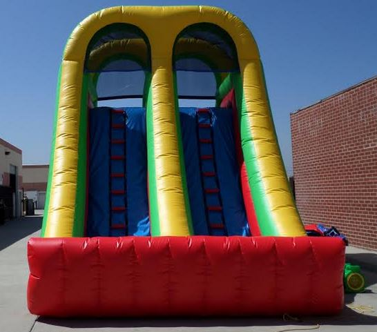 Inflatable Water Slide Safety Rules: Inflatable 18' Double Load Dual Slide W111