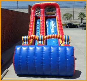 Inflatable 18' Primary Colors Front Load Slide