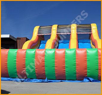 Inflatable 18' Triple Lane Slide
