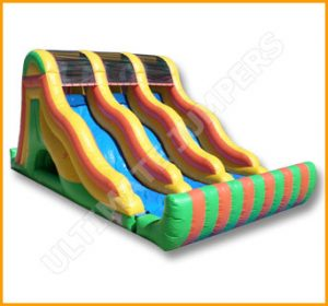Inflatable 18' Triple Lane Slide