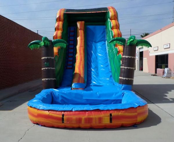 Inflatable 18' Tropical Water Slide