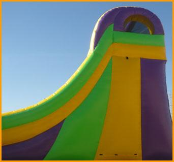 Inflatable 19' Front Load Single Lane Slide