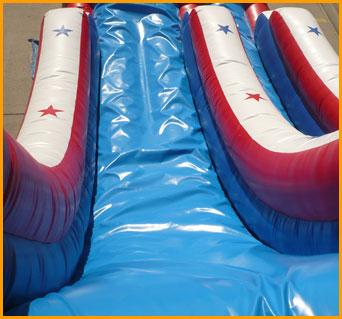 Inflatable 19' Patriotic Single Lane Slide