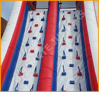 Inflatable 20' Patriotic Double Lane Climber Slide