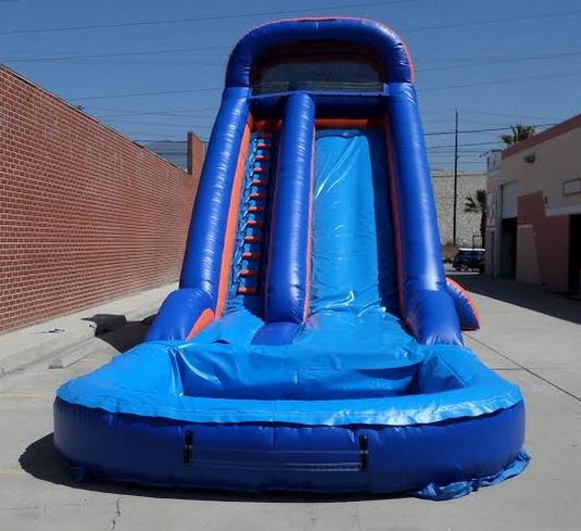 Inflatable Water Slide Safety Rules: Inflatable 20' Wet And Dry Slide W109