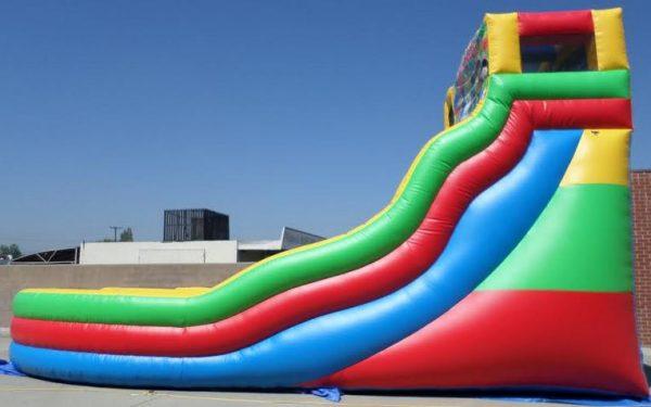 Inflatable 21' Module Double Lane Curvy Water Slide