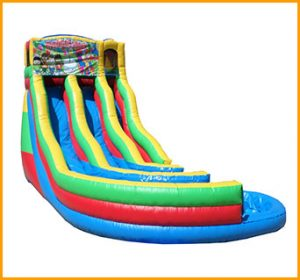 Inflatable 21' Module Double Lane Curvy Water SlideInflatable 21' Module Double Lane Curvy Water Slide