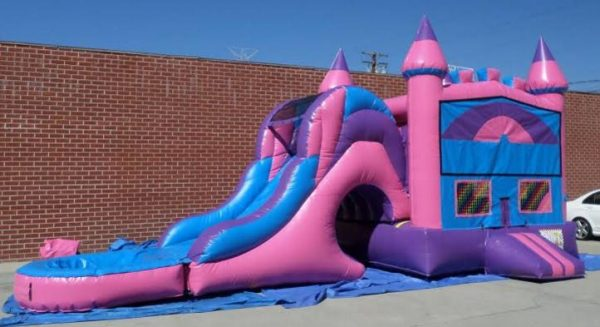 Inflatable 3 in 1 Wet Dry Castle Module Combo