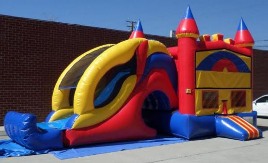 Inflatable 3 in 1 Wet and Dry Castle Module Combo