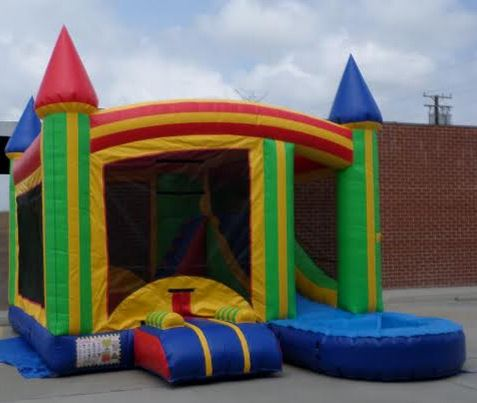 Inflatable 4 in 1 Wet Dry Multicolor Castle Combo