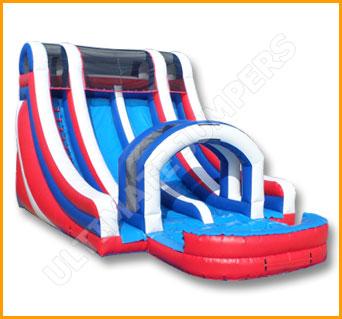 Inflatable All American Double Lane Splash Water Slide