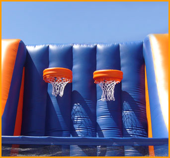Inflatable Double Basketball Court